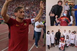 La visita de Totti a la joven futbolista que ayudó a despertar del coma