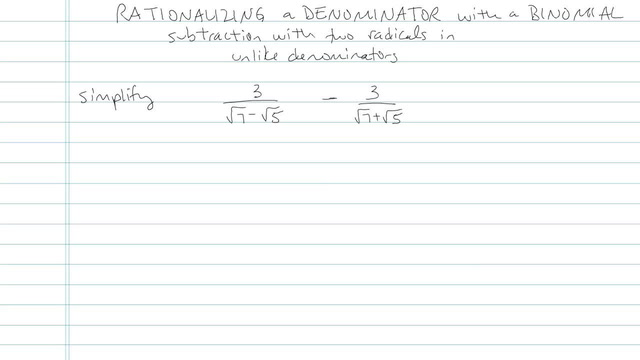 Rationalizing a Denominator with a Binomial - Problem 5