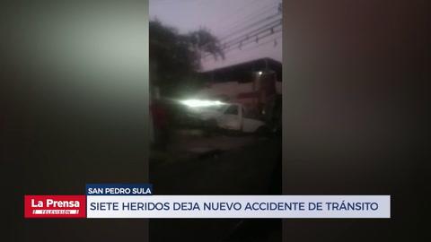 Siete heridos deja nuevo accidente de tránsito en San Pedro Sula