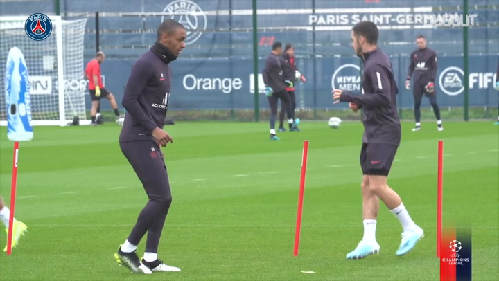 Paris Saint-Germain's last training session before Bruges