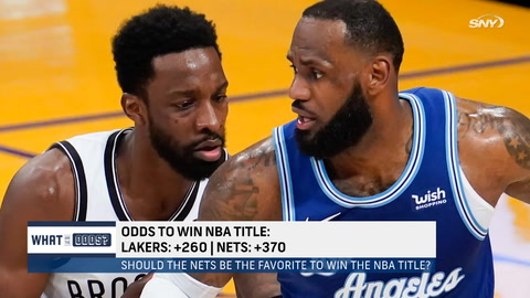 What are the Nets' championship odds after beating the Lakers?