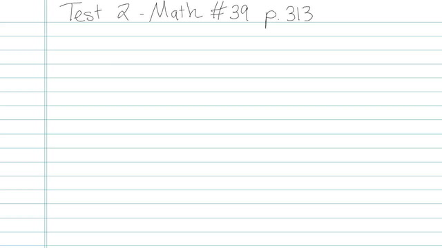 Test 2 - Math - Question 39