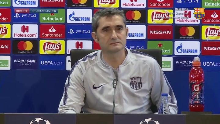 Rueda de prensa completa de Ernesto Valverde antes del partido de Champions ante el Manchester United