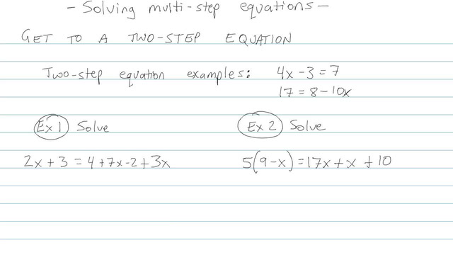 Solving Multi-step Equations - Problem 5