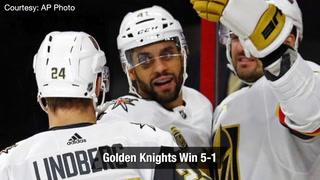 Golden Edge: Knights Beat Hurricanes 5-1