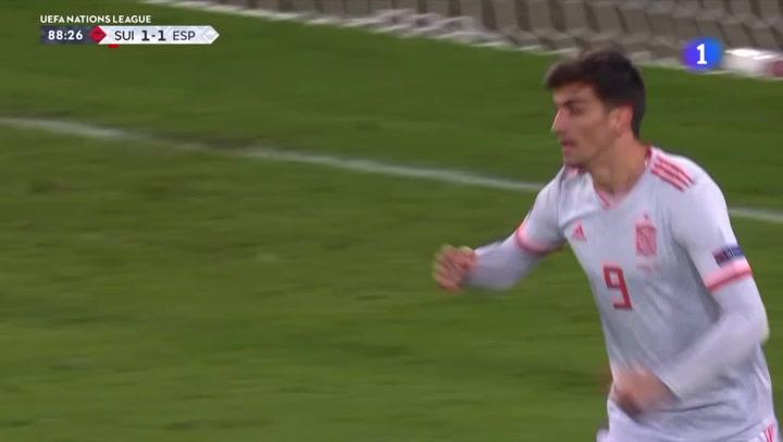Gerard Moreno empata para España ante Suiza