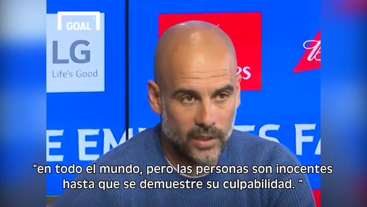Así opina Guardiola sobre la sanción de la UEFA al City