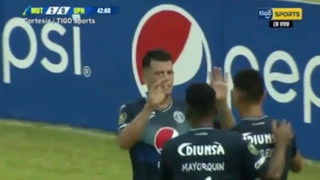 Marcelo Estigarribia anota el 2-0 para Motagua ante UPN en el Nacional