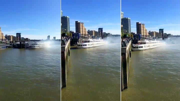 300 tonn elvecruiser på kollisjonskurs på Themsen
