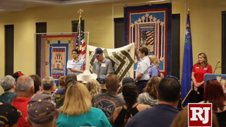 Nye County Valor Quilters host presentation ceremony