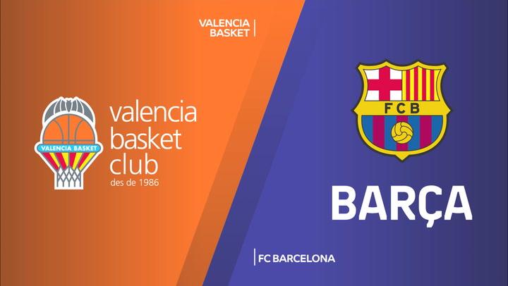 El resumen del Valencia Basket - FC Barcelona (76-77) de Euroliga