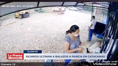 VIDEO: Comando de sicarios ejecuta a pareja en Olancho