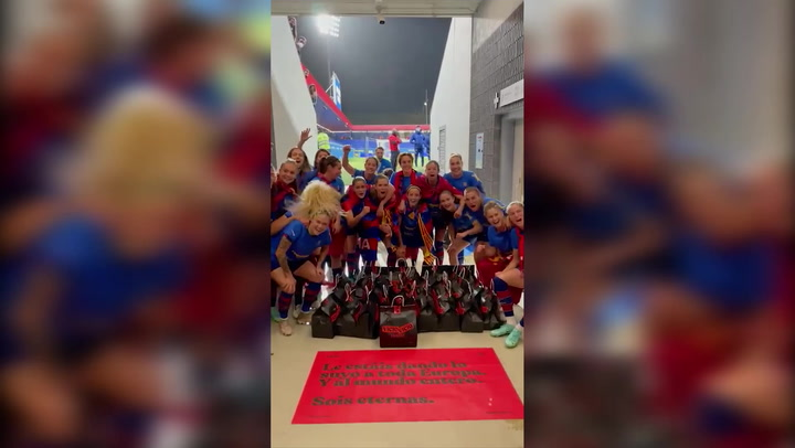 Las jugadoras del Barça celebran su Champions League con hamburguesas de 'Vicio'