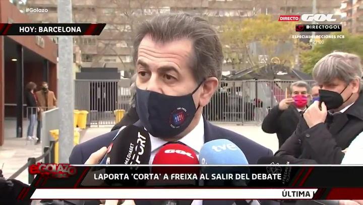 Gracioso gesto de Laporta con Freixa tras el debate