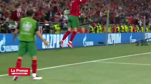 Cristiano Ronaldo le marca gol por primera vez en su carrera a Francia