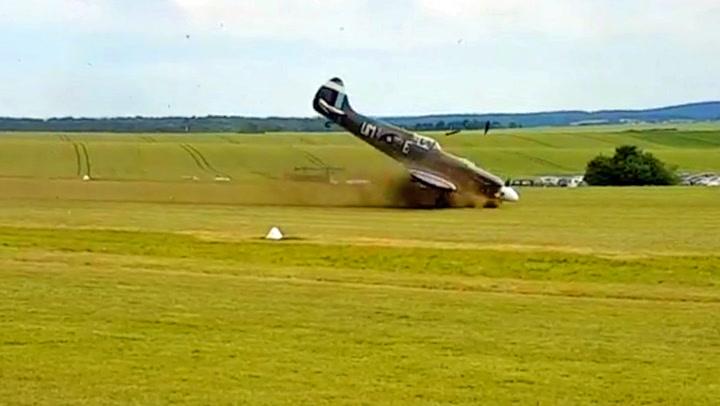 Spitfire-takeoff endte i katastrofe