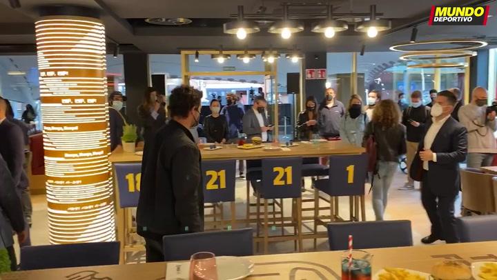 Presentación del Barça Café en el Camp Nou