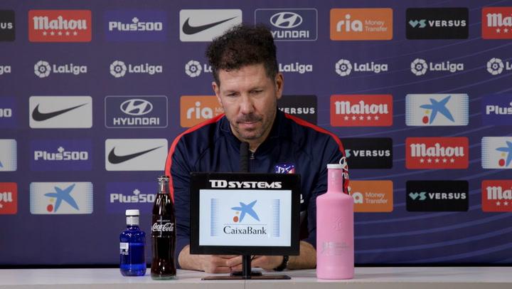 La rueda de prensa de Simeone, previa del partido contra Osasuna