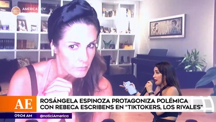 """Rosángela Espinoza se enfrenta a Rebeca Escribens: """"no estás siendo profesional"""""""