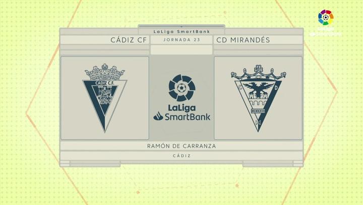 LaLiga SmartBank (J23): Resumen y goles del Cádiz 3-3 Mirandés