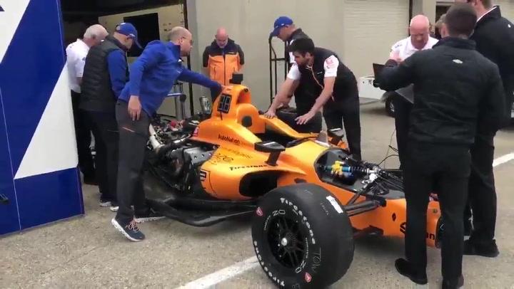 Así suena el McLaren con el que Alonso está haciendo los test en Indianápolis