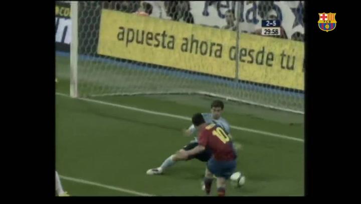 Piqué y Puyol recuerdan el 2-6 al Madrid