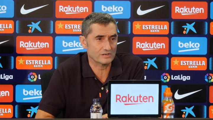Valverde se adhiere al comunicado que ha hecho el Barça