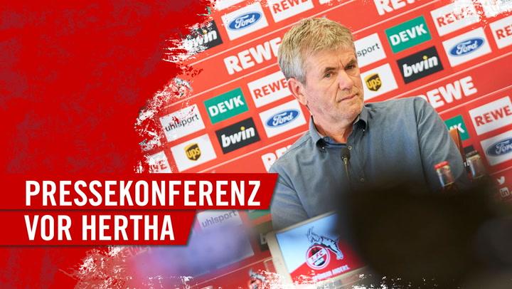 Die FC-Pressekonferenz vor dem Spiel gegen Hertha BSC