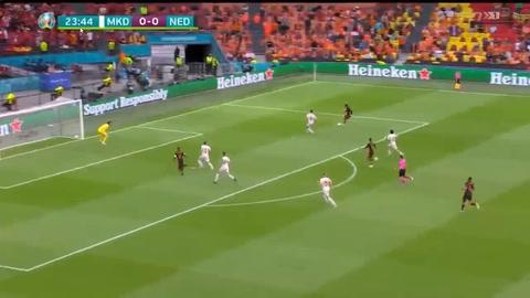 Macedonia del Norte 0-3 Países Bajos (Eurocopa)