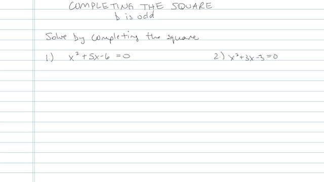 Completing the Square - Problem 6