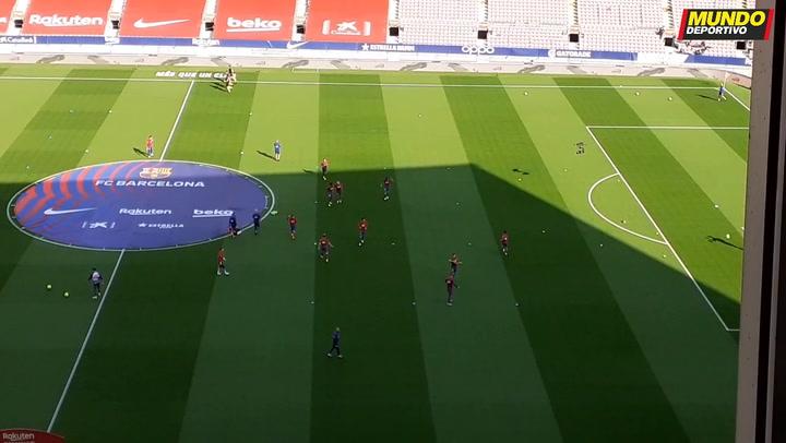 Ambiente 'auténtico' en el Camp Nou