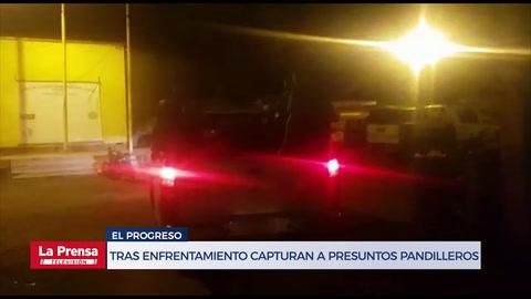 Tras enfrentamiento capturan a tres presuntos pandilleros en El Progreso