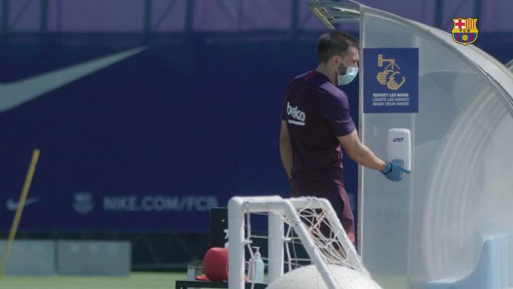Última sesión de la semana para el Barça