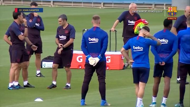 Así ha sido el último entrenamiento previo al partido de Liga ante el Valencia
