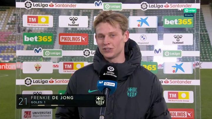 """De Jong: """"Ahora juego más arriba y tengo más opciones de marcar"""""""