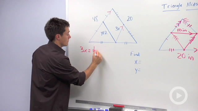Triangle Midsegment Properties - Problem 1