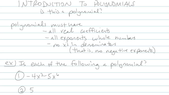 Introduction to Polynomials - Problem 4