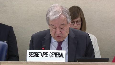Jefe de la ONU preocupado porque los derechos humanos son atacados en todo el mundo