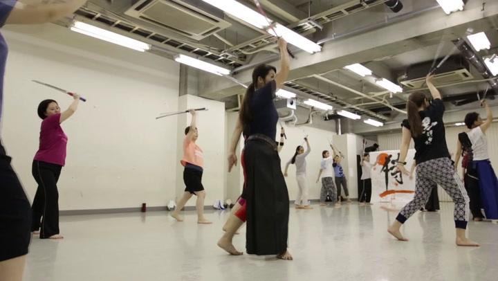 Japanse vrouwen vechten zich slank