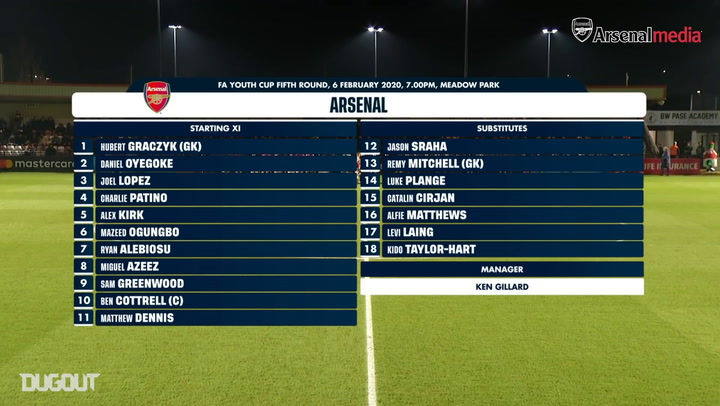 Arsenal U18 clinch 4-3 cup thriller over Brighton & Hove Albion