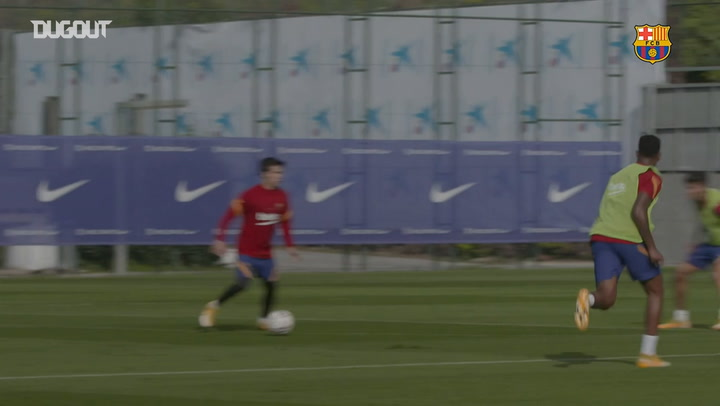 FC Barcelona's second training session of the week