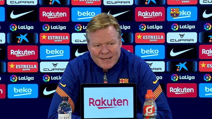 Koeman sobre el sistema de juego ante el Eibar y sin Messi