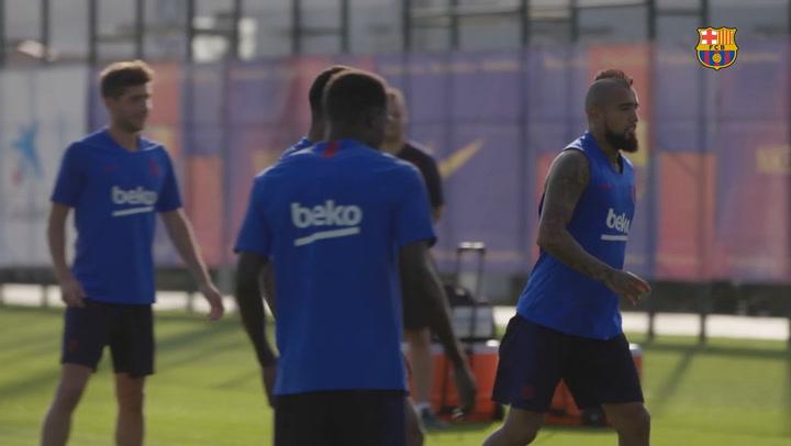 El Barça vuelve a los entrenamientos tras el parón de selecciones