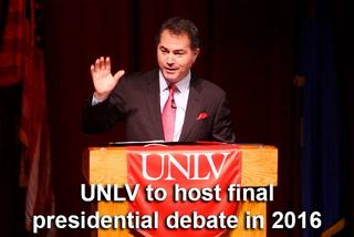 UNLV president speaks on presidential debate bid