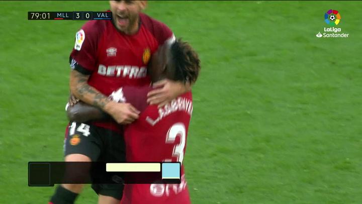 Gol de Dani Rodríguez (4-0) en el Mallorca 4-1 Valencia