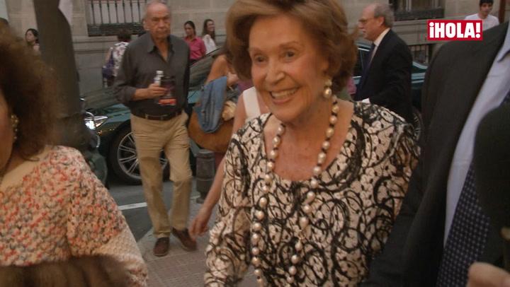 Animada y feliz, así se mostró Carmen Franco en sus últimas apariciones públicas