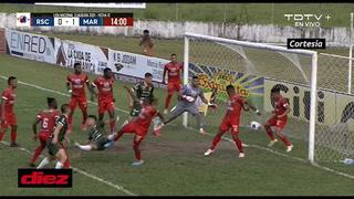Rony Martínez se lanzó de cabeza para empatar el juego ante Marathón en Tocoa