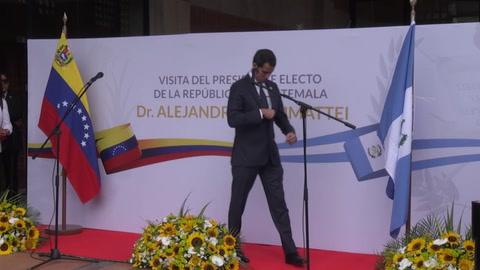 Guaidó critica que se negara ingreso a Venezuela al presidente electo de Guatemala