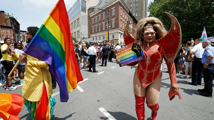 """Watch live as New Yorkers celebrate gay pride with """"Queer Liberation March"""" through city"""