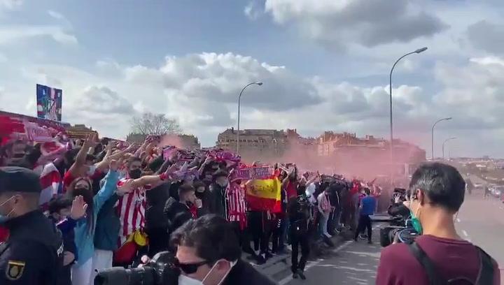 Así ha recibido la afición del Atlético de Madrid a su equipo